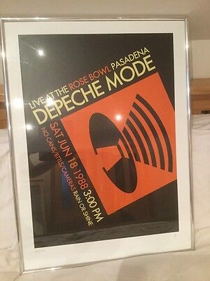 DEPECHE MODE Framed Official Limited Edition Silk Screen Art Print, 187 of 300