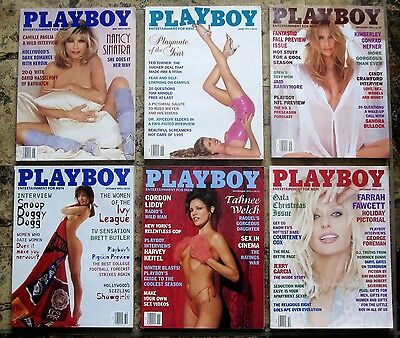 Lot of 20 Playboy Magazines 1995 1996 Various Months VG Cond