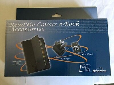 Binatone Readme Colour Accessory Pack Leather Case/Ac Adapter/ Sd Card box8615 B