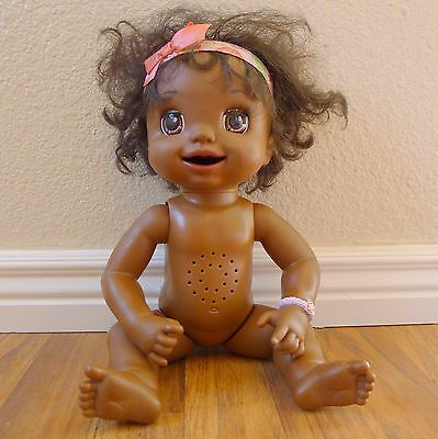 Baby Alive 2007 Soft Face African American Black Learn to Potty Doll