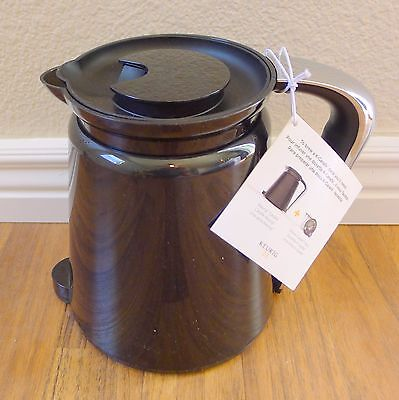 New KEURIG HOT 2.0 Black Thermal Coffee Pot Pitcher K Cup Carafe