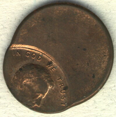 USA - Lincoln Cent Error - struck off center - more than 50%!