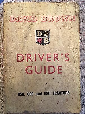 david brown 850, 880 & 990 tractors drivers guide. vintage classic tractor
