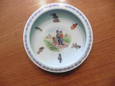 Antique Charlie and Charlotte Went One Way Porcelain Dish Germany