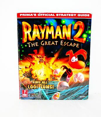 RAYMAN 2: THE GREAT ESCAPE...Prima's Official Strategy Guide N64...VGC...RARE
