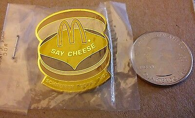 Vintage Mcdonald's  Cheeseburger  Hat Lapel Pin