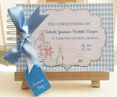 Personalised Peter Rabbit Christening Baby Shower Birthday Guest Book Photo
