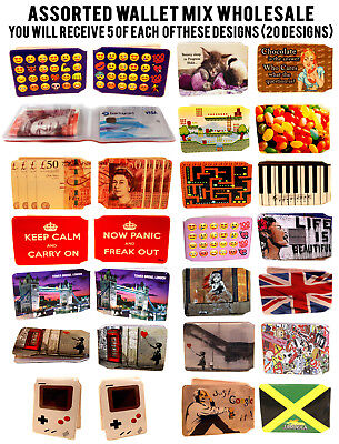 100x ASSORTED COOL WALLETS LOT BUS PASS CREDIT TRAVEL RAIL FOR OYSTER CARD