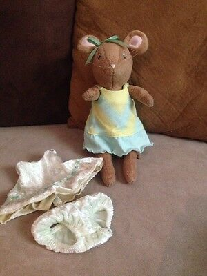 """American Girl Angelina Ballerina Friend Jointed Alice 10"""" Plush Mouse Doll"""