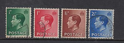 GB 1936 Edward VIII Definitive Set of 4 SG457 - 460 - fine used with CDS