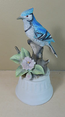 Vintage 1982 Crown Royal Ceramic Blue Jay Music Figurine Hear It Play!!
