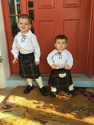 Scotland's National Baby Kilt 4-12 M Scottish Plaid Tartan Christening Outfit