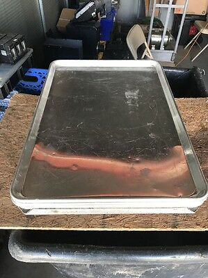 "Lot of 5 Full Size Aluminum 18""x26"" Bakery Sheet Pan With Sheet pan Dolly"
