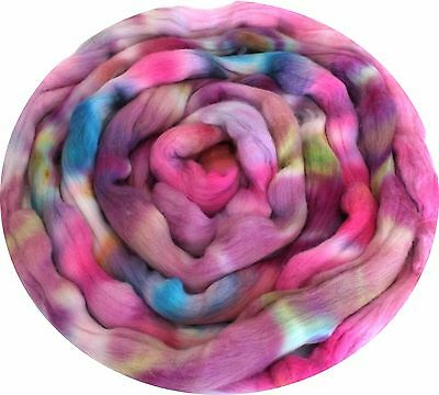 Merino Wool Hand Dyed Roving Combed Top 21 Micron 100gms - FM22 Shunklies