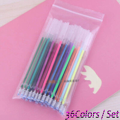 Highlight Fluorescent Stationery Office Painting Refill Pen 36 Colors Gel