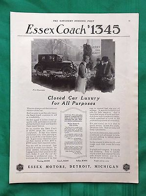 1922 Lot Vintage Automobile Magazine Ads ~ Antique Essex Motor Cars ~ Detroit