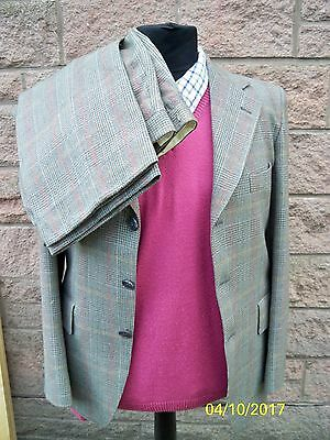 MENS VINTAGE WINDSOR CHECK PURE NEW WOOL 2pc SUIT