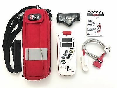 Masimo Rad-57 Pulse Oximeter w/ SpCO, PI, SpO2, HR w/ Adult Sensor, Carry Case