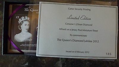 Limited edition THE QUEENS DIAMOND JUBILEE 2012  JERSEY STAMP ONLY 600 MADE
