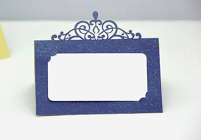 Navy Blue Laser Cut Wedding Party Name Table Place Cards Free Stand Quality