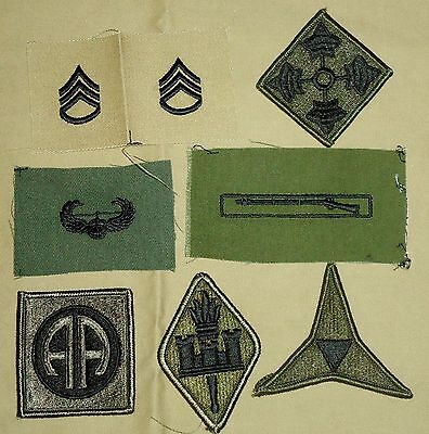 US Military Patches - Wide Variety Including Shoulder Insignia, Rank & Awards 01