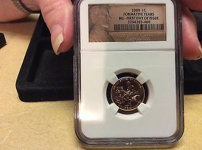 2009 LINCOLN CENT..Formative Years First Day of Issue .NGC...BU #400