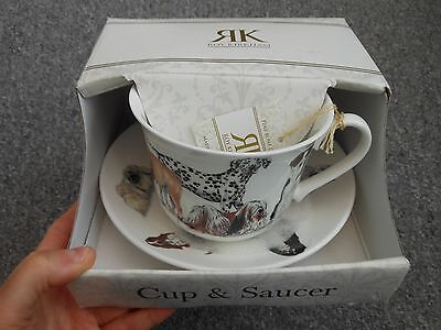 Roy Kirkham large breakfast cup and saucer dogs galore design