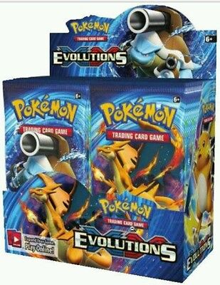 Brand new Factory sealed pokemon cards Evolutions booster box 36 pcs