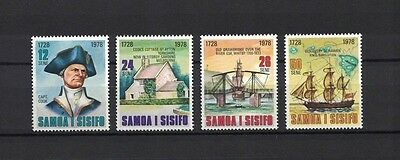 Samoa 1978 Minr 376-379 ** / mnh James Cook HMS Resolution