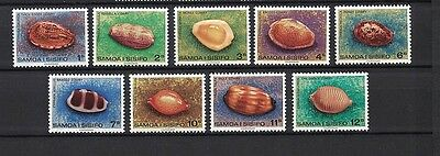 Samoa 1978 Minr 380-388 ** / mnh Meeresschnecken definitives (1st part set 15/09