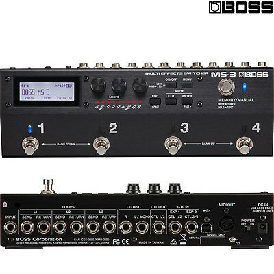 BOSS MS-3 Multi-Effects Switcher Pedal w/ Onboard Processing l Authorized Dealer