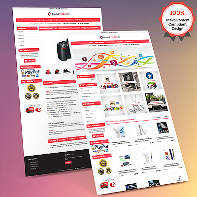 Mobile Responsive Ebay Store Design & Auction Listing Template- HTTPS 2018 Ready