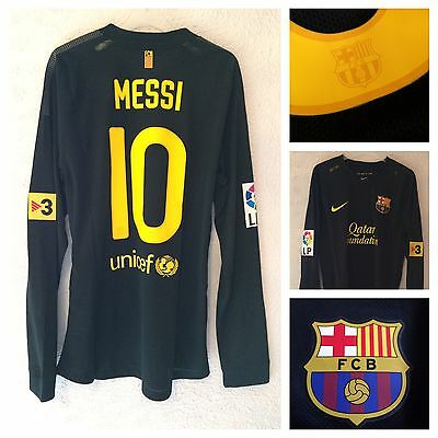 Barcelona 2011/12 Messi l/s player issue away shirt  - large - new