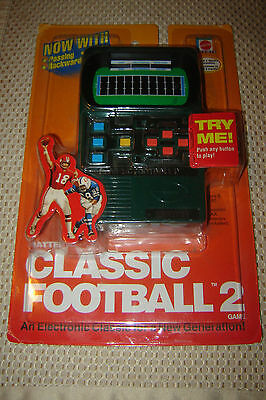 Vintage MATTEL CLASSIC FOOTBALL 2 Electronic Handheld Game 2002 NEW SEALED