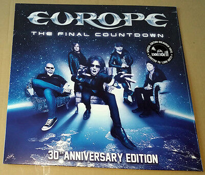 """Europe 12"""" The Final Countdown 30Th Anniversary Blue Vinyl Rsd 2016 New Sealed"""