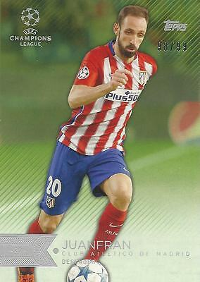 2015-16 Topps Uefa Champions League Showcase Juanfran 06/50 Parallel