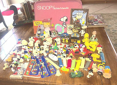"Large Snoopy Peanuts Estate Lot 1960""s and up. Rubber Toys  Holiday Ornaments"