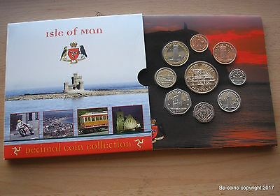 Scarce 2010 Isle Of Man Uncirculated Coin Collection F.d.c.