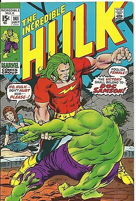 Incredible Hulk #141 (First Appearance Of Dr Samson) Vfn