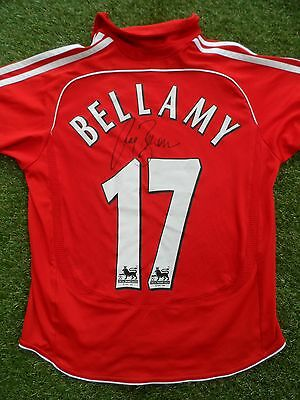 Craig Bellamy #17 Hand Signed Name & Number Liverpool 2006-2008 Home Shirt