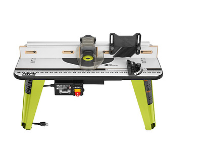 Ryobi Universal Router Table Adjust. Fence 3 Yr. Warranty Incl. 5 Throat Plates