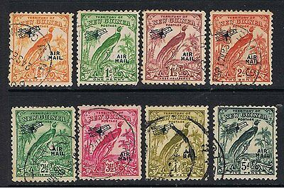 New Guinea 1932 - 34  Bird Of Paradise Overprinted Air Mail