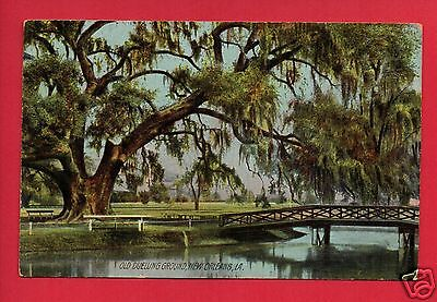 New Orleans La Old Duelling Ground Spicer Star City Mi Rotograph     Postcard