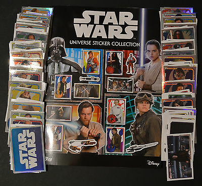 STAR WARS UNIVERSE Complete Collection FULL SET 320 Stickers + Album *NEW*