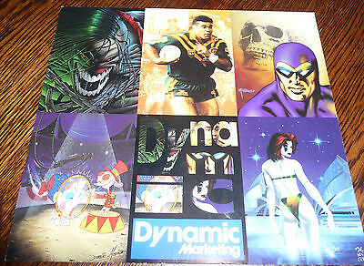 Uncut Promo Card Dynamic Phantom, Pitt,cyber Force, Rugby League 1995