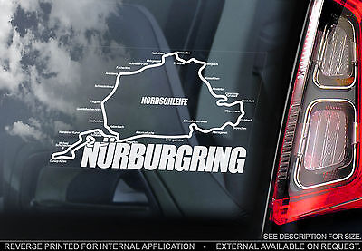 Nurburgring - Car Window Sticker - Nordschleife Circuit -Formula 1 Track F1 Sign