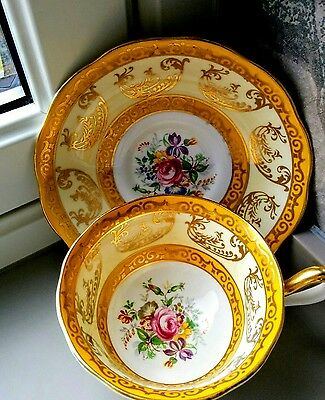 Stunning Gilded Tea Cup and Saucer by Royal Albert