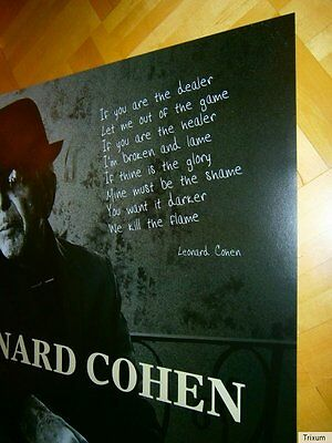 "NEU! † 2016 German XL (84cm) PROMO Poster ""You Want It Darker"" LEONARD COHEN"