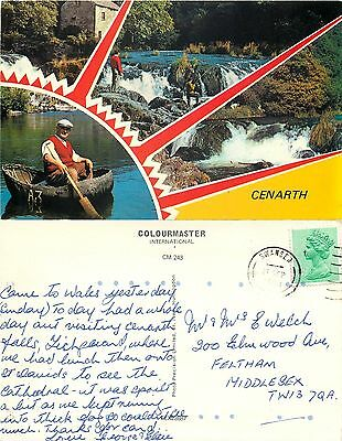 s08332 Cenarth, Carmarthenshire, Wales postcard posted 1983 stamp