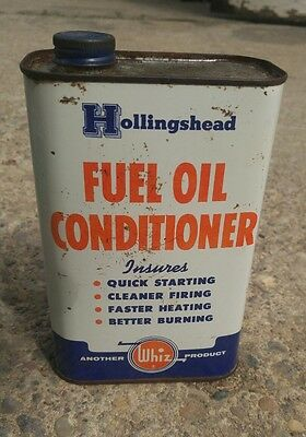 whiz oil can fuel oil conditioner rare hollingshead quart gas station